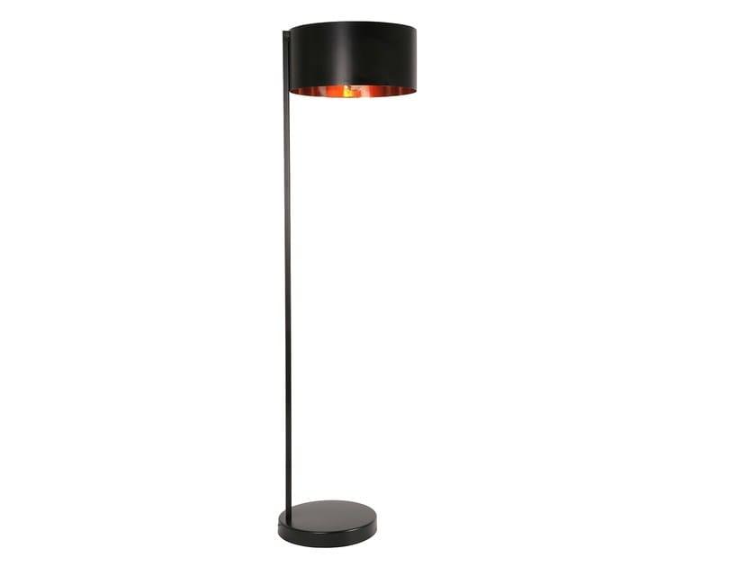 Brass floor lamp OVNI | Floor lamp - Branco sobre Branco