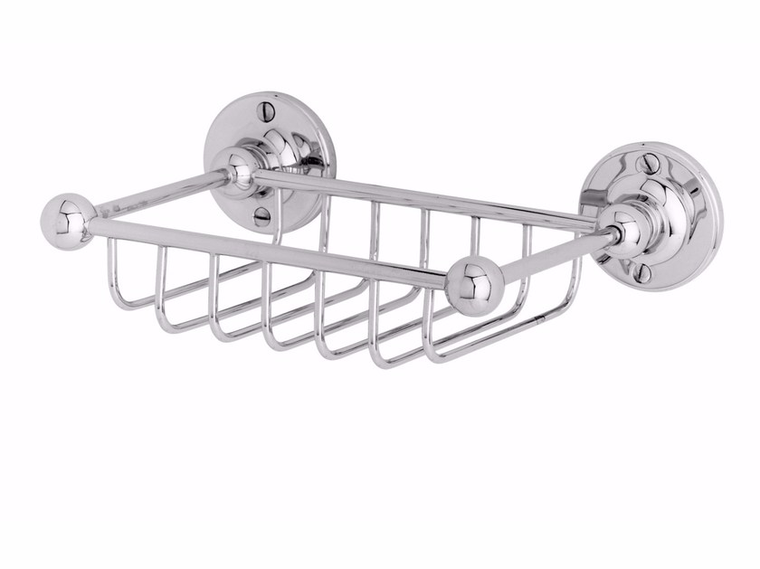 Wall-mounted metal soap dish for shower OXFORD | Metal soap dish by GENTRY HOME