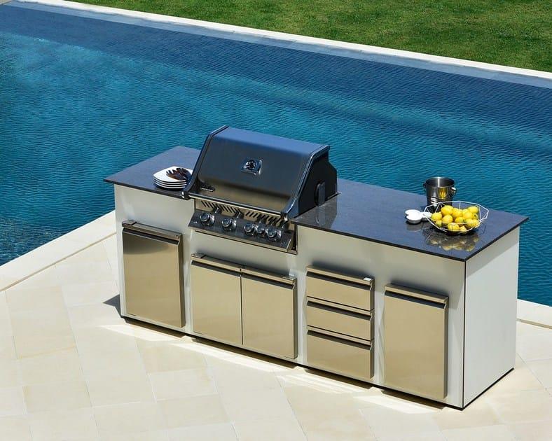 Cucine esterne barbecue in muratura progetto e - Cucina esterna in muratura con barbecue ...