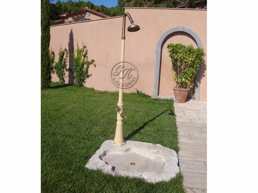 Aluminium outdoor shower Outdoor shower - Garden House Lazzerini