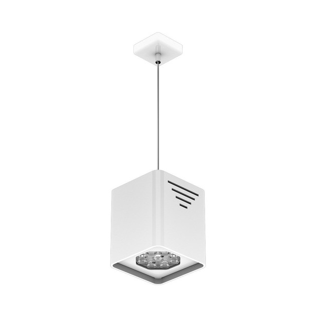 LED steel pendant lamp P MATTONE 9 by NEXO LUCE