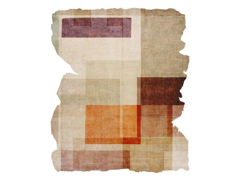 Handmade silk rug P02 ALONE WITH YOU (SODA BAR EDIT) CUT by HENZEL STUDIO