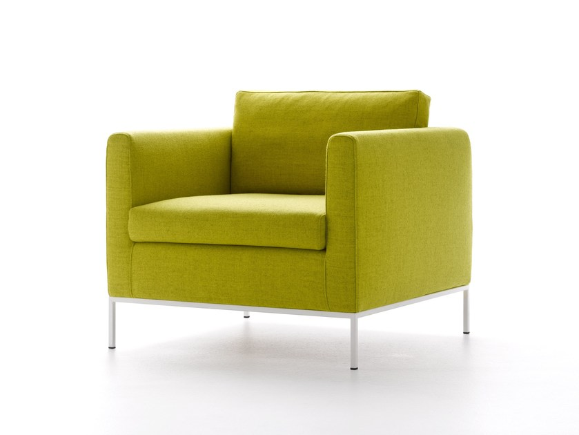 Upholstered fabric armchair with armrests PAD 3.0 | Armchair - MDF Italia
