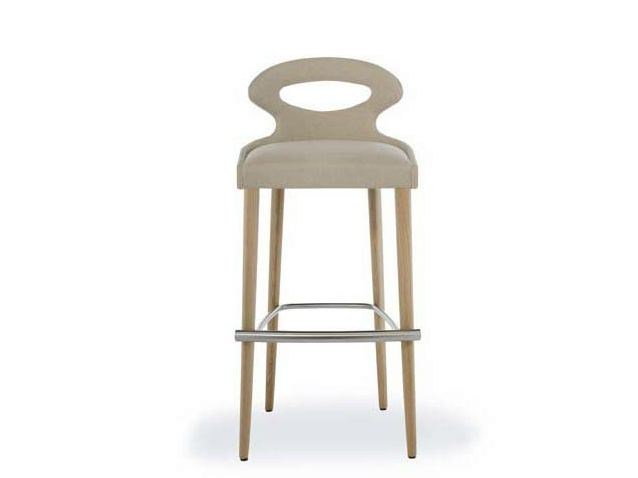 Upholstered counter stool PADDLE | Counter stool - Potocco