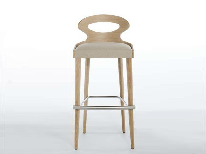Counter stool with footrest PADDLE | Counter stool - Potocco