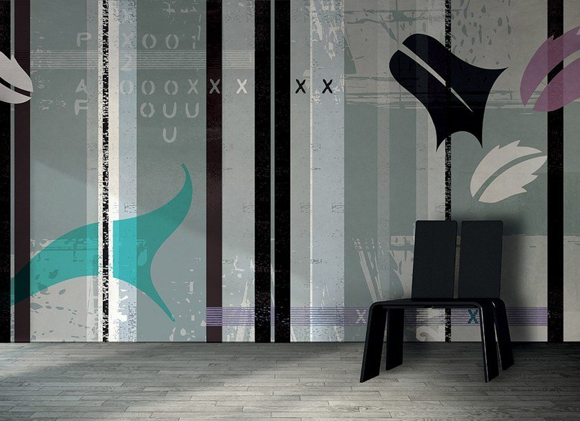Geometric washable writing synthetic material wallpaper PAESAGGIO - N.O.W. Edizioni