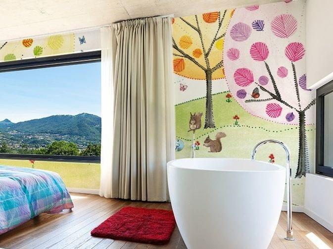 Papel pintado lavable de vinilo con paisajes paisaje by glamora dise o silvia betancourt - Papel pintado lavable ...