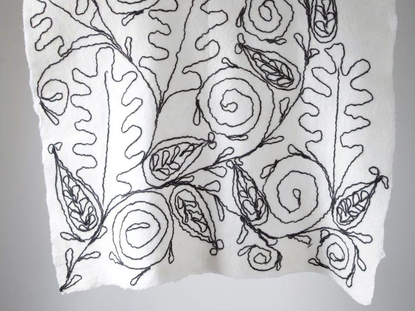 Handmade wool felt lap robe PAISLEY & PROTEA by Ronel Jordaan™