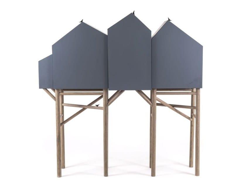 Highboard with doors PALAFITT 4 DOORS by Seletti
