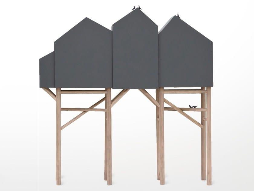 Credenza con ante a battente palafitt by seletti design for Malerba mobili