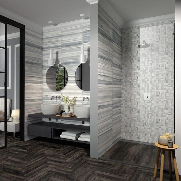 Pavimento rivestimento in gres porcellanato effetto marmo palissandro by ceramica rondine - Rivestimento bagno effetto marmo ...