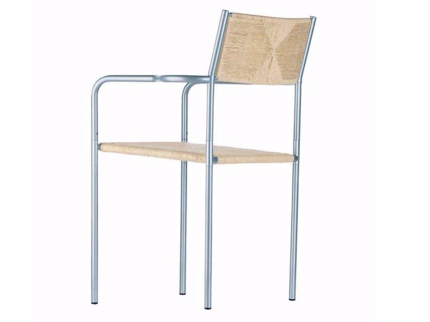 Stackable straw chair with armrests PALUDIS ARMREST - 155 - Alias
