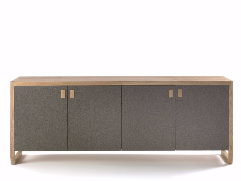 Wooden and wool felt sideboard with doors PAN - Riva 1920