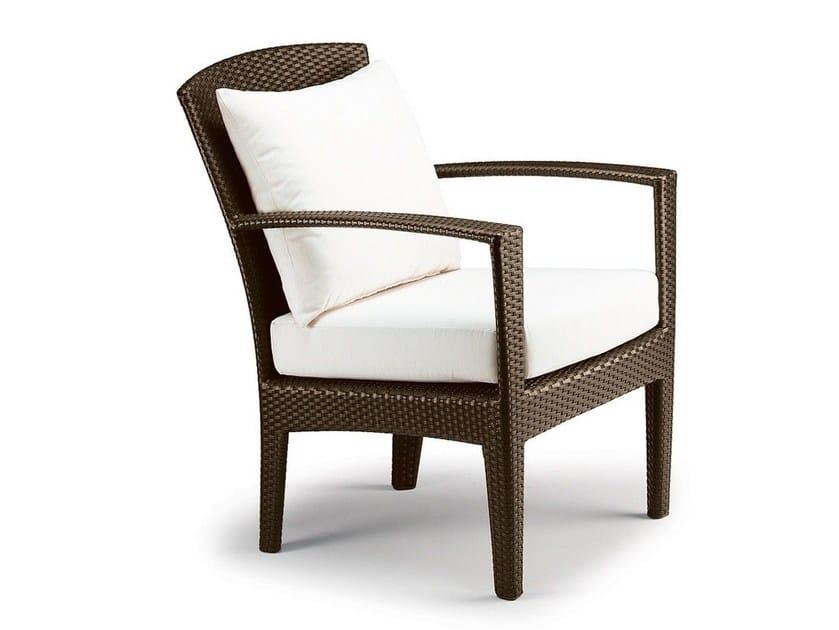 Garden armchair with armrests PANAMA   Garden armchair by Dedon