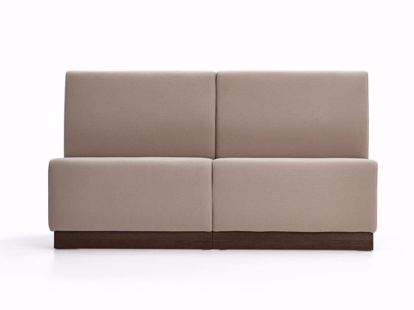 Upholstered modular bench PANCA SYSTEM - Varaschin