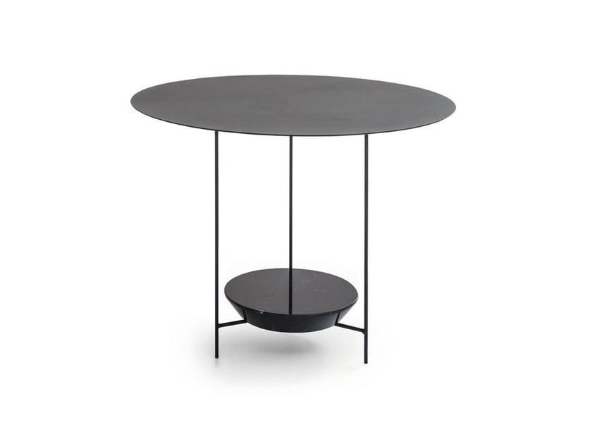 Tavolo rotondo in metallo PANNA COTTA | Tavolo rotondo - MOLTENI & C.