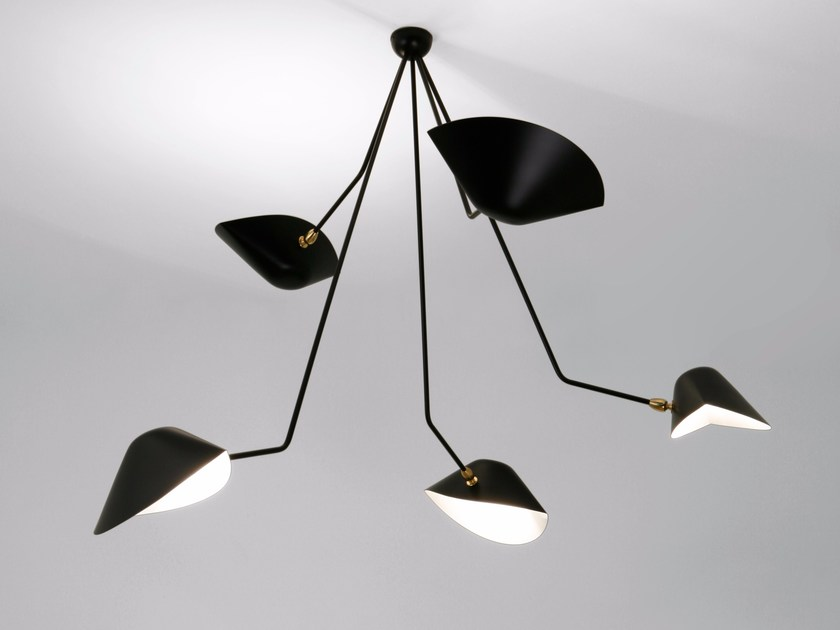 Adjustable metal ceiling lamp PAR5BC | Ceiling lamp by Serge Mouille