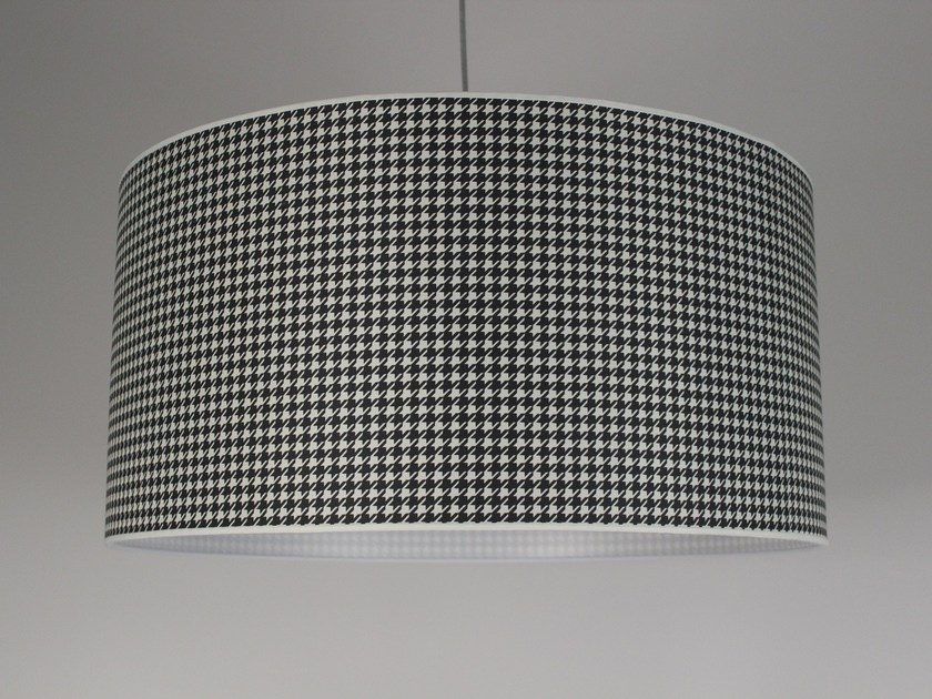 Drum shaped fabric lampshade Fabric lampshade - Ipsilon PARALUMI
