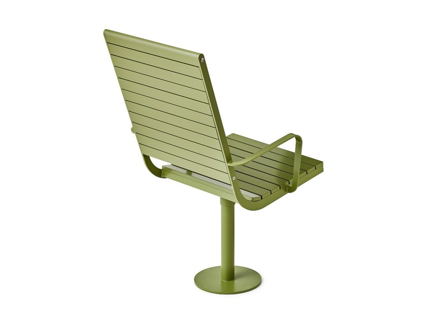 Powder coated steel outdoor chair PARCO LOUNGE CHAIR | Outdoor chair - Nola Industrier