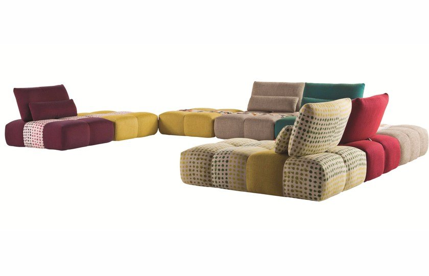 Sectional fabric sofa PARCOURS - ROCHE BOBOIS