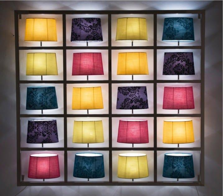 Indirect light fabric wall lamp PARECCHI BIG CHROME - KARE-DESIGN