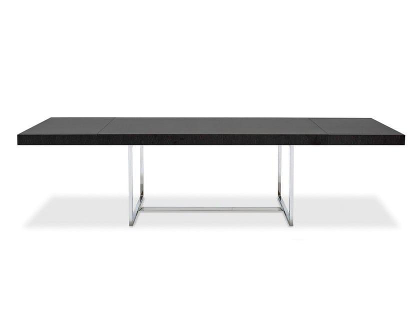 Extending rectangular dining table PARENTESI | Extending table - Calligaris