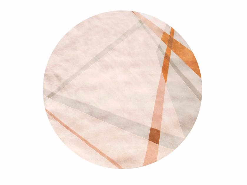 Round wool rug PARIS PANAME | Rug by ROCHE BOBOIS