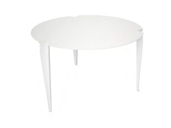 Round aluminium garden table PARIS | Round table - Sérénité Luxury Monaco