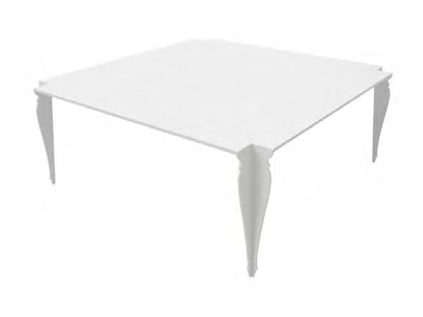 Square aluminium garden side table PARIS | Square coffee table - Sérénité Luxury Monaco