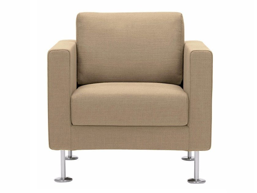 Leather armchair with removable cover PARK ARMCHAIR by Vitra