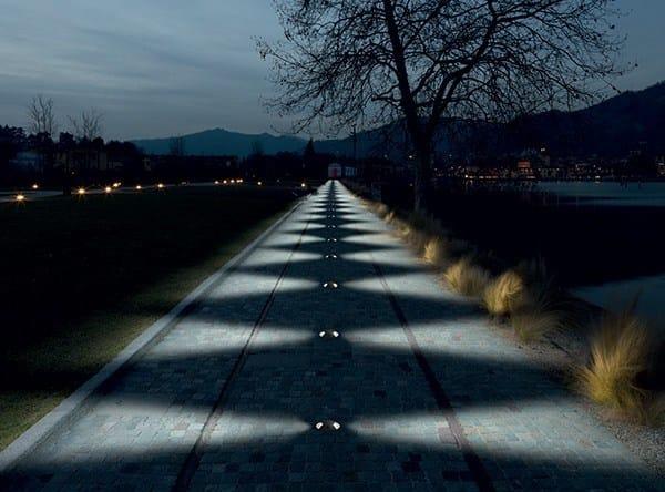 LED round Floor Light PASSUM Sidewards - Goccia Illuminazione