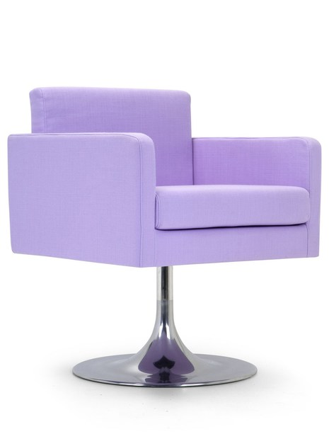 Contemporary style upholstered fabric guest chair PASTEL LOUNGE   Armchair - Domingo Salotti