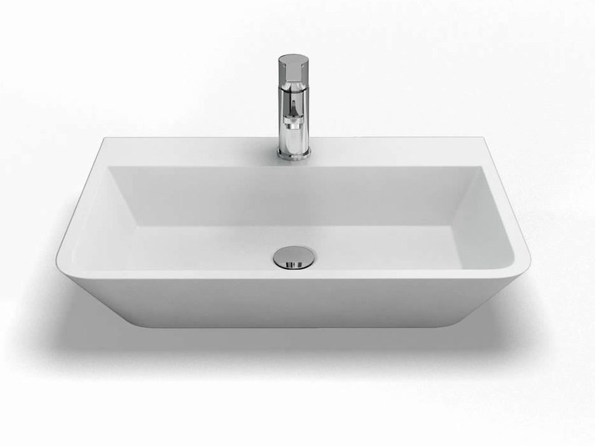 Countertop rectangular washbasin PATINATO | Washbasin - Polo