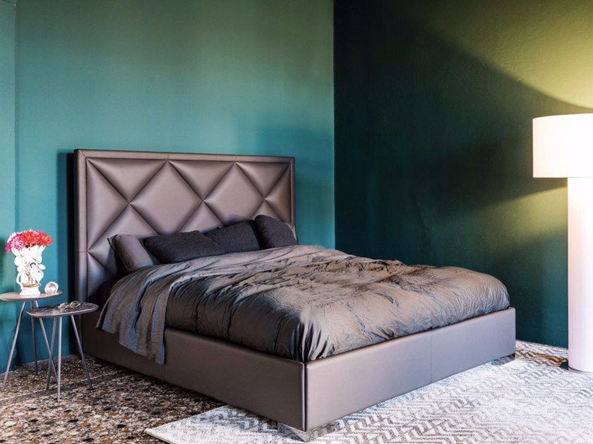 Upholstered double bed PATRICK by Cattelan Italia