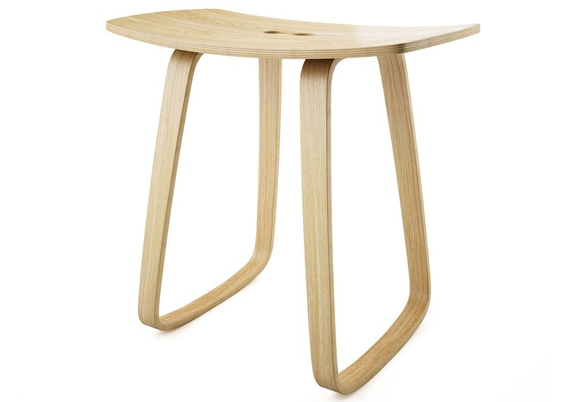 Contemporary style rocking plywood stool PAULA | Rocking stool by sixay furniture