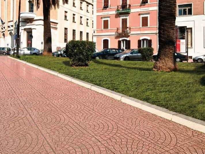 Pavimento per esterni carrabile in graniglia pav - Piastrelle carrabili per esterni ...