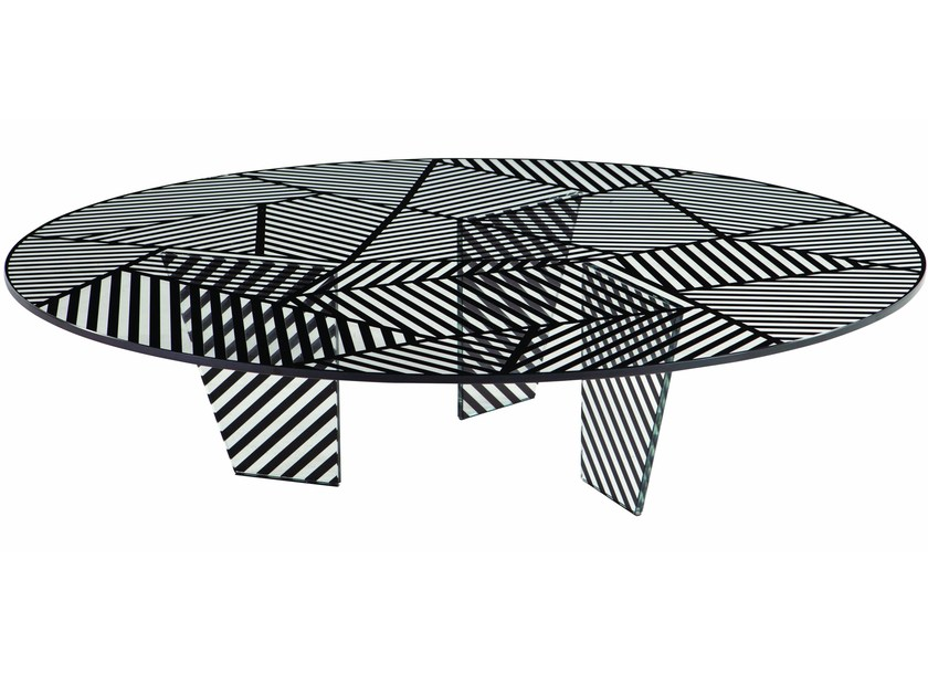 Round coffee table for living room PAYSAGE - ROCHE BOBOIS