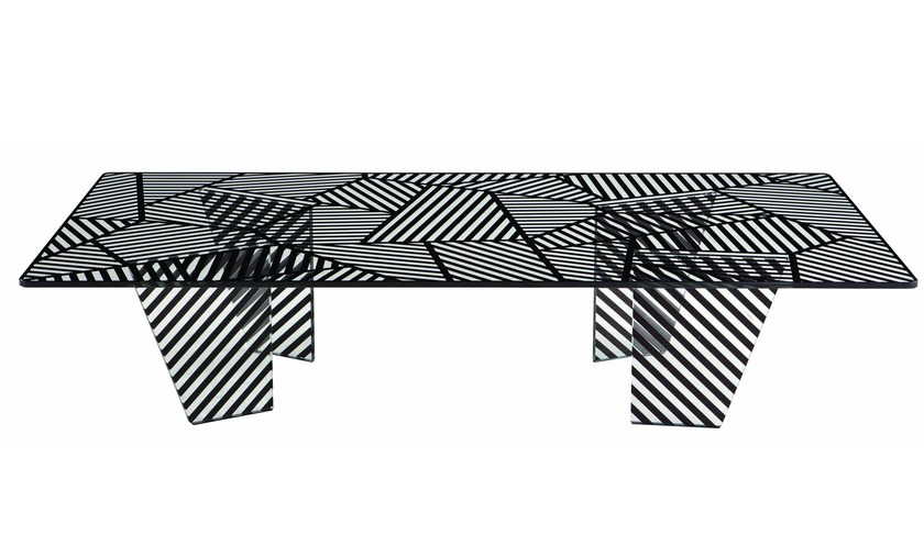 Rectangular coffee table for living room PAYSAGE - ROCHE BOBOIS