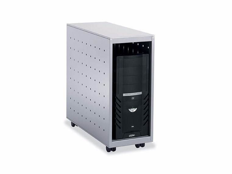 Steel CPU support with casters PC BOX - Dieffebi