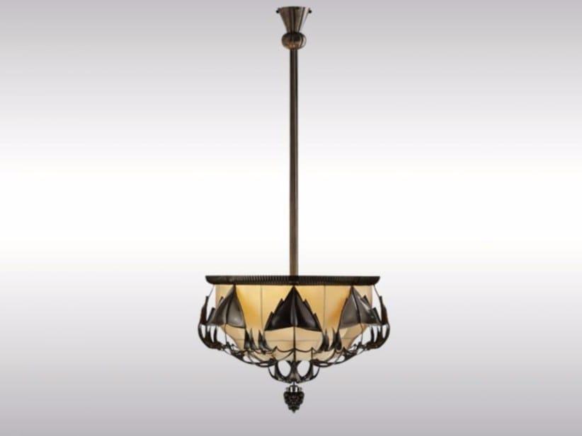 Brass pendant lamp PECHE 2 by Woka Lamps Vienna