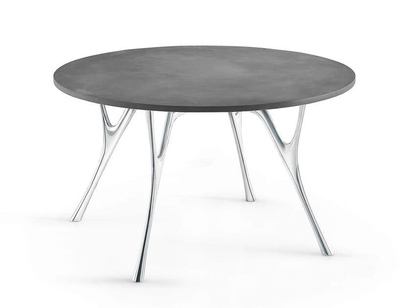 Round cement table PEGASO | Cement table - Caimi Brevetti
