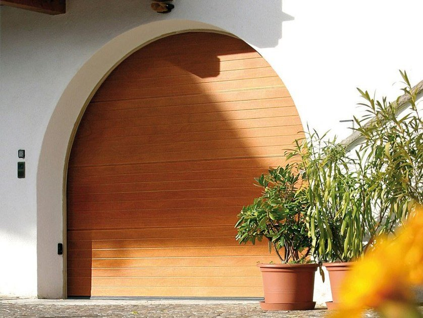 Okoumé garage door PEGASO STANDARD - Breda Sistemi Industriali