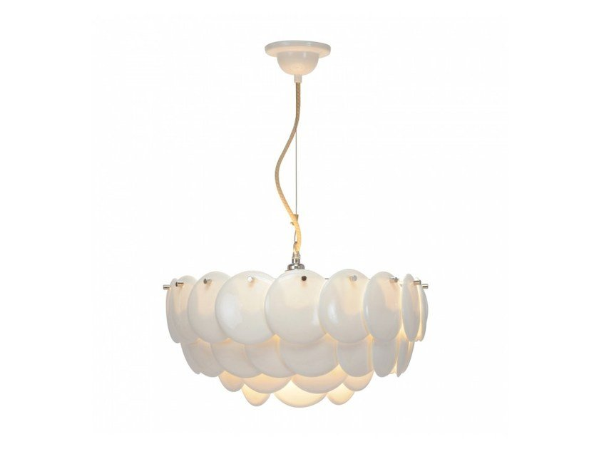 Direct light porcelain pendant lamp with dimmer PEMBRIDGE 2 - Original BTC