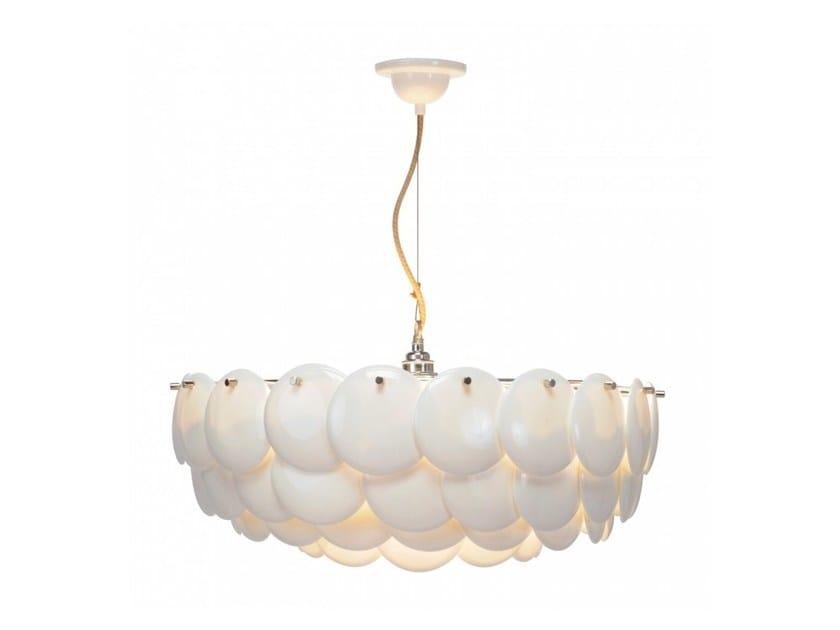 Direct light porcelain pendant lamp with dimmer PEMBRIDGE 3 - Original BTC