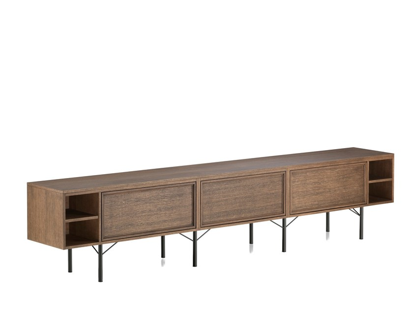 Contemporary style modular wooden sideboard PENINSULA | Wooden sideboard by L'Origine