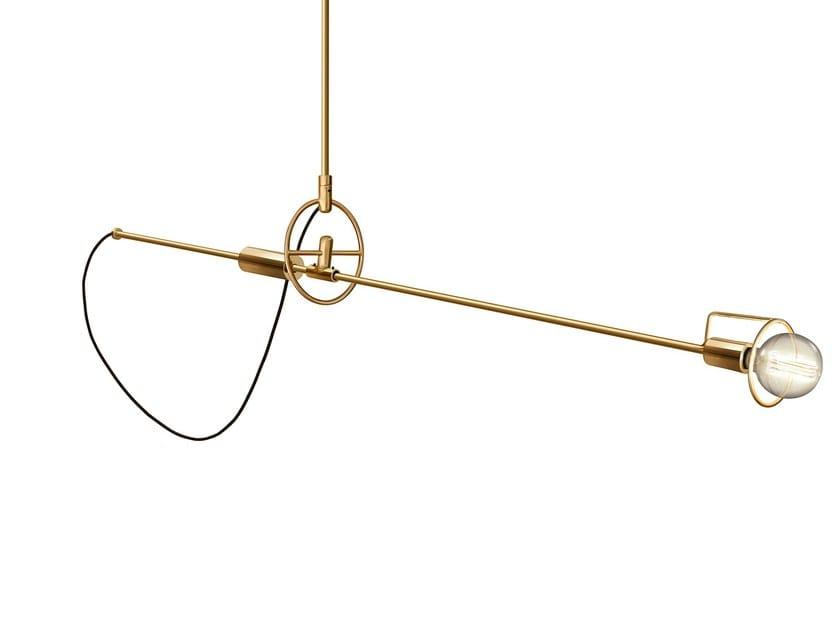 Adjustable brass ceiling lamp PENN | Ceiling lamp - Sollos