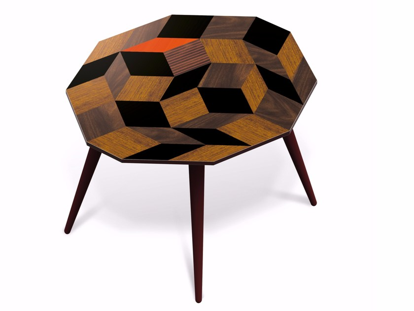 Beech wood and HPL side table PENROSE FALL WOOD L - Bazartherapy