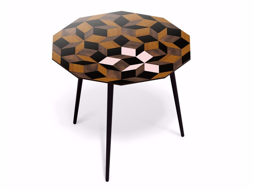 Beech and HPL table PENROSE GUÉRIDON GIANT SPRING WOOD L - Bazartherapy