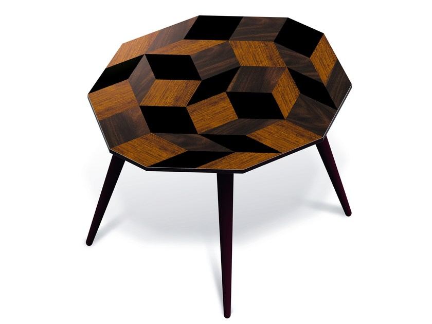 Laminate side table PENROSE WOOD L - Bazartherapy