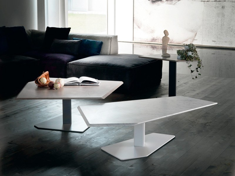 Low marble coffee table PENTA - Cattelan Italia